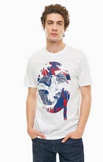 Белая хлопковая футболка Armani Exchange