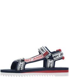 Разноцветные сандалии из текстиля Tommy Jeans