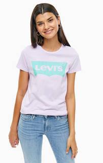 Сиреневая футболка с контрастным принтом Levis®