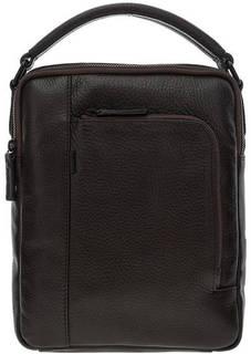 Кожаная сумка коричневого цвета Gianni Conti