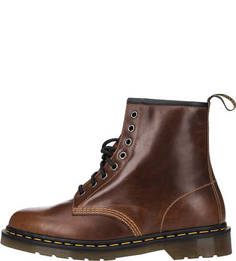 Высокие кожаные ботинки коричневого цвета Dr. Martens