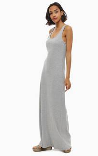 Длинное хлопковое платье без рукавов Gas
