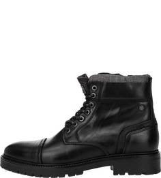 Кожаные ботинки с замшевыми вставками Jack & Jones