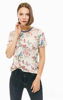 Трикотажная футболка с цветочным принтом Pepe Jeans
