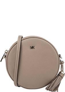 Маленькая кожаная сумка круглой формы Canteen Michael Michael Kors