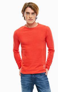 Красный хлопковый джемпер с круглым вырезом Jack & Jones
