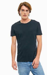 Однотонная хлопковая футболка с круглым вырезом Calvin Klein Jeans