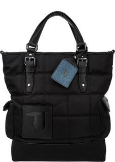 Вместительная черная сумка со съемным плечевым ремнем Trussardi Jeans