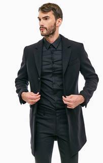 Классическое шерстяное пальто черного цвета Drykorn