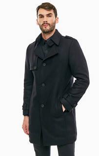 Классическое черное пальто из шерсти Drykorn