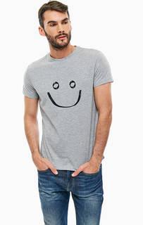 Серая футболка с короткими рукавами Mexx
