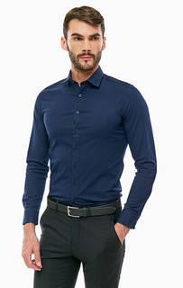 Рубашка из хлопка синего цвета Mexx