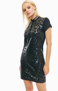 Короткое платье с животным принтом Fred Perry