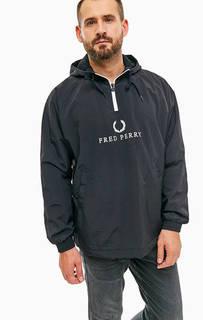 Ветровка с логотипом бренда и капюшоном Fred Perry