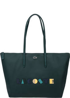 Вместительная сумка с логотипом бренда Lacoste