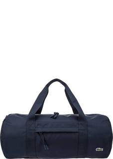 Текстильная сумка синего цвета Lacoste