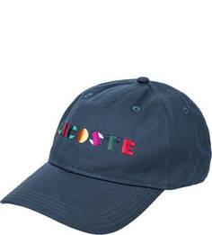 Бейсболка с вышитым логотипом бренда Lacoste
