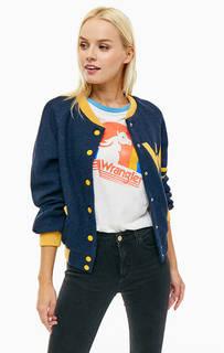 Синяя куртка-бомбер с высоким содержанием шерсти Wrangler