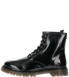 Высокие демисезонные ботинки с каблуком Trussardi Jeans