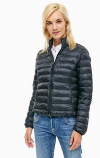 Легкая стеганая куртка черного цвета Mustang