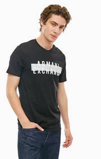 Хлопковая футболка с логотипом бренда Armani Exchange