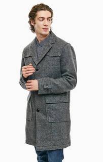 Утепленное пальто с накладными карманами Armani Exchange