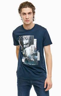 Хлопковая футболка с короткими рукавами Armani Exchange