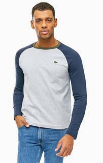 Хлопковая футболка с контрастными рукавами Lacoste