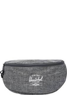 Серая поясная сумка из текстиля Herschel