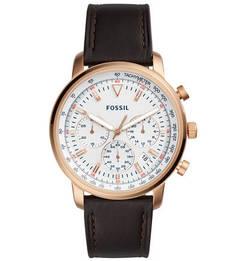 Кварцевые часы с влагозащитой и хронографом Fossil