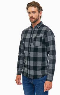 Хлопковая рубашка в клетку с карманом Jack & Jones
