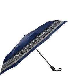 Синий складной зонт со стальным стержнем Doppler