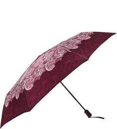 """Бордовый складной зонт с системой """"антиветер"""" Doppler"""