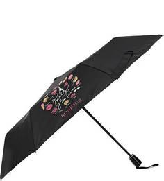 Складной зонт с контрастным принтом Doppler