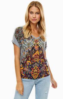 Разноцветная футболка с короткими рукавами Desigual