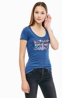 Приталенная футболка с принтом Pepe Jeans