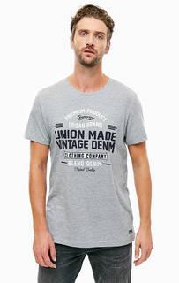 Хлопковая футболка с круглым вырезом Blend