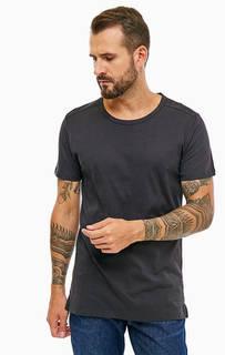 Черная базовая футболка из хлопка Lee