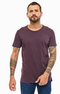 Фиолетовая базовая футболка из хлопка Lee