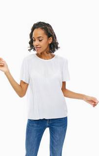 Белая трикотажная футболка свободного кроя Tommy Hilfiger