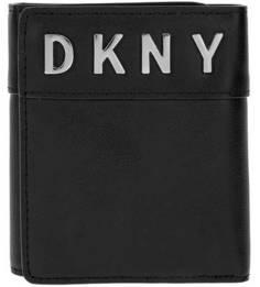 Кожаный кошелек с металлическим декором Dkny