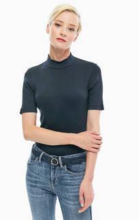 Облегающая хлопковая футболка с высоким воротом Tommy Hilfiger