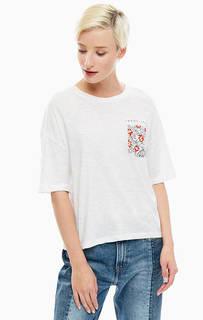 Укороченная белая футболка с карманом Tommy Jeans