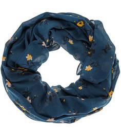 Трикотажный шарф-хомут с цветочным принтом Tom Tailor