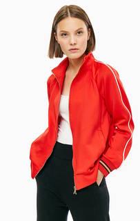 Красная куртка-бомбер с вышивкой Patrizia Pepe