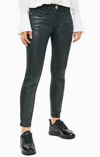 Черные зауженные брюки из денима Patrizia Pepe