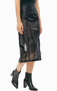 Полупрозрачная юбка с отделкой пайетками Patrizia Pepe