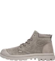 Серые ботинки из нубука Palladium