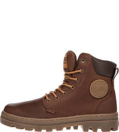 Коричневые ботинки из натуральной кожи Palladium