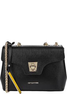 Маленькая черная сумка из сафьяновой кожи Cromia